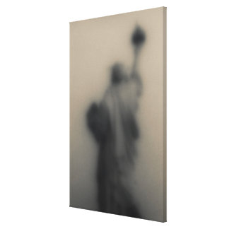 Diffused image of the Statue of Liberty Canvas Print