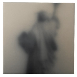 Diffused image of the Statue of Liberty Ceramic Tile