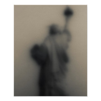 Diffused image of the Statue of Liberty Poster
