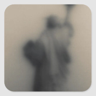 Diffused image of the Statue of Liberty Square Sticker