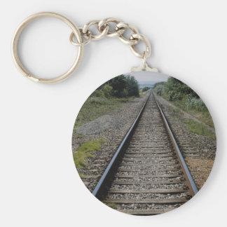 Diffused railway line keychains