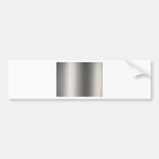 Diffusion of Flourescent Light on Metallic Texture Bumper Sticker