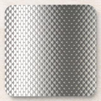 Diffusion of Flourescent Light on Metallic Texture Drink Coaster