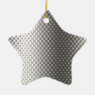 Diffusion of Flourescent Light on Metallic Texture Christmas Ornament
