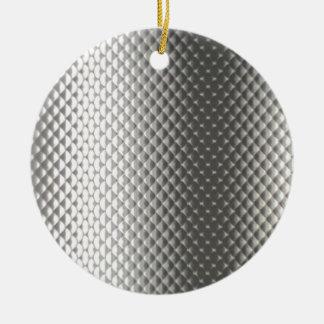Diffusion of Flourescent Light on Metallic Texture Christmas Tree Ornament