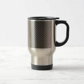 Diffusion of Flourescent Light on Metallic Texture Travel Mug