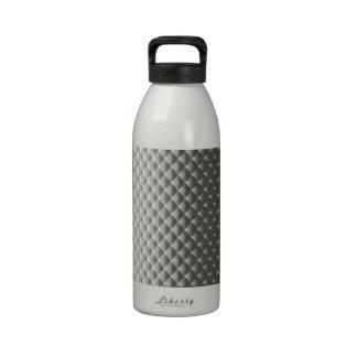 Diffusion of Flourescent Light on Metallic Texture Drinking Bottles