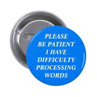 Dificultad que procesa palabras
