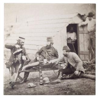 Dificultades en el campo (coronel Lowe y los capit Azulejo Cuadrado Grande