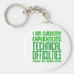 Dificultades técnicas llavero personalizado