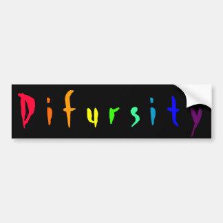 Difursity Car Bumper Sticker