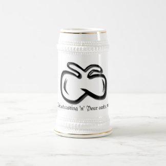 """¡difusión """"n"""" del Mosca-logotipo su tímpano! Stein Jarra De Cerveza"""