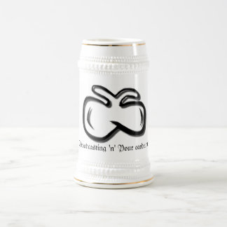 """¡difusión """"n"""" del Mosca-logotipo su tímpano! Stein Tazas De Café"""