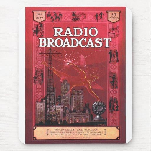 Difusión-Rojo de radio Alfombrilla De Raton
