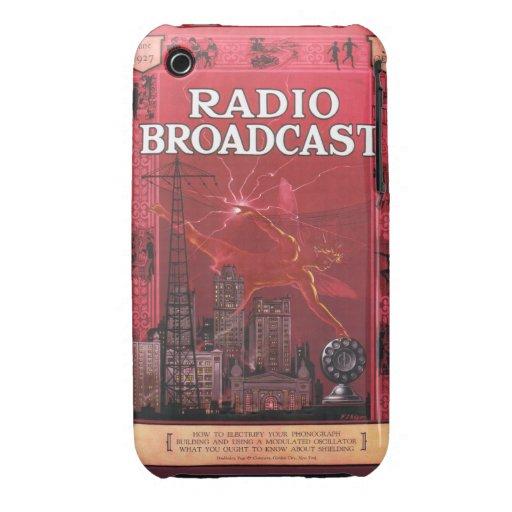 Difusión-Rojo de radio Case-Mate iPhone 3 Cárcasa
