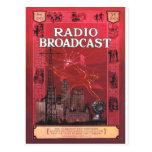 Difusión-Rojo de radio Postales