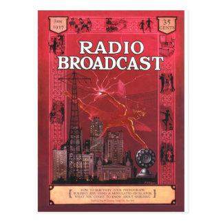 Difusión-Rojo de radio Tarjeta Postal