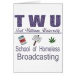 Difusión sin hogar de Ted Williams Felicitación