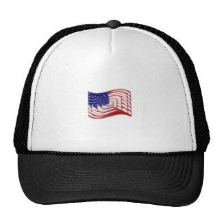 Difuso apilada onda de la bandera de los E.E.U.U. Gorro