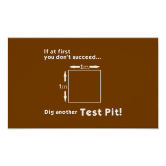 Dig another Test Pit! Poster