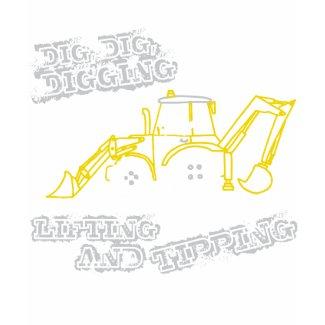 Dig, Dig, Digging t-shirt dark shirt