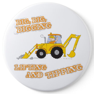 Dig Dig Digging Yellow Digger Button