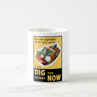 Dig For Victory Now -- WW2 Coffee Mug