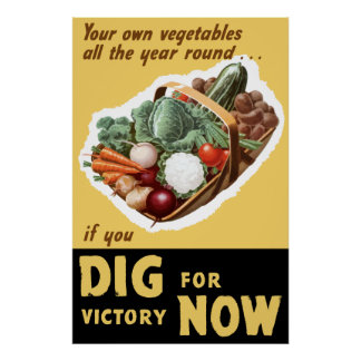Dig For Victory Now -- WW2 Poster