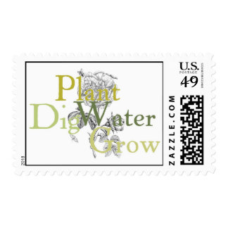 Dig Plant Water Grow Stamp