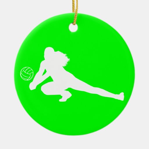 Dig Silhouette Ornament w/Name Green