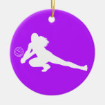 Dig Silhouette Ornament w/Name Purple
