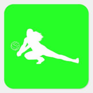 Dig Silhouette Sticker Green