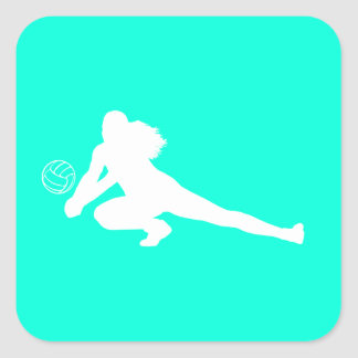 Dig Silhouette Sticker Turquoise