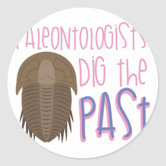 Dig The Past Classic Round Sticker