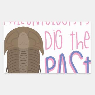 Dig The Past Rectangular Sticker