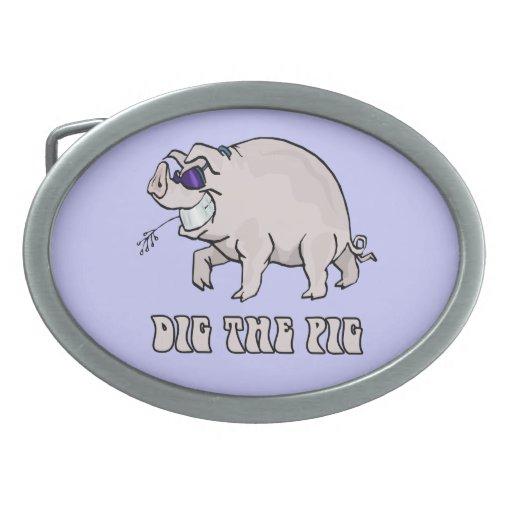 Dig the Pig Belt Buckle