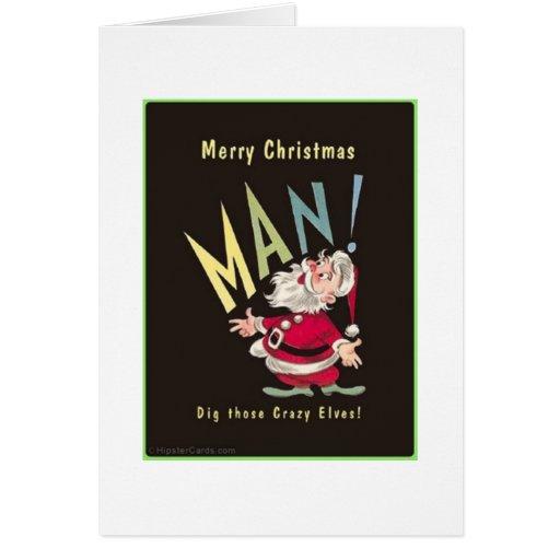 Dig those elves! card