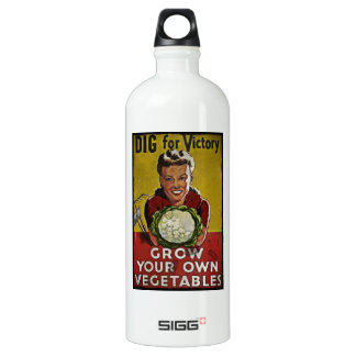 Dig Your Own Victory Garden Aluminum Water Bottle
