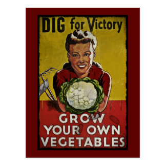 Dig Your Own Victory Garden Postcard