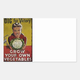 Dig Your Own Victory Garden Rectangular Sticker