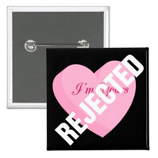 Diga a las tarjetas del día de San Valentín felice Pin Cuadrada 5 Cm