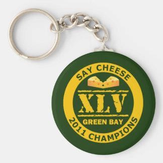 Diga a los campeones del queso XLV 2011 Llavero Redondo Tipo Pin