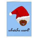 Diga a Santa negro lo que usted quiere para el nav Felicitacion