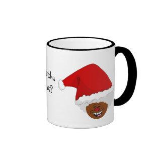 Diga a Santa negro lo que usted quiere para el nav Taza De Café