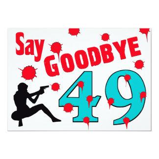 Diga adiós a la 50.a celebración del cumpleaños de invitación 12,7 x 17,8 cm