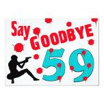 """Diga adiós a la 60.a celebración del cumpleaños de invitación 5"""" x 7"""""""
