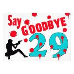 Diga adiós a la trigésima celebración del cumpleañ comunicado personalizado