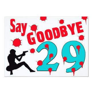 """Diga adiós a la trigésima celebración del invitación 5"""" x 7"""""""