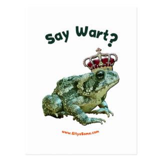 Diga al príncipe del sapo de la rana de la verruga postales
