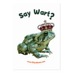 Diga al príncipe del sapo de la rana de la verruga plantilla de tarjeta de visita